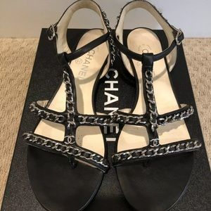 CHANEL WOVEN CHAIN LINK SANDALS 🔥🔥🔥